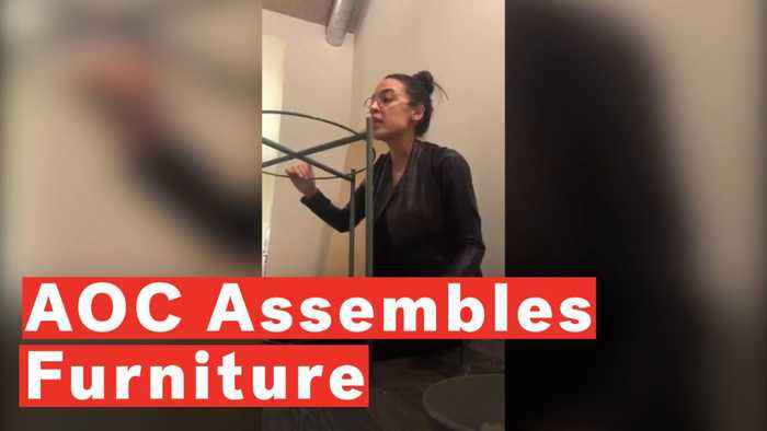 Alexandria Ocasio-Cortez Assembles Furniture While Talking Policy On Instagram Live