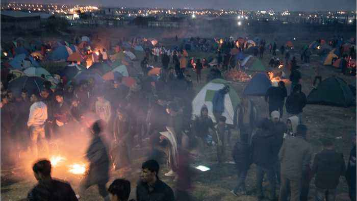 Violence Erupts As Greek Authorities Clash With Migrants