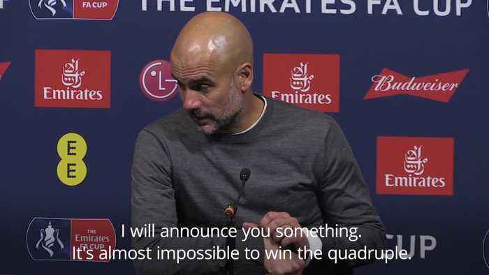 Winning quadruple is almost impossible says Pep Guardiola