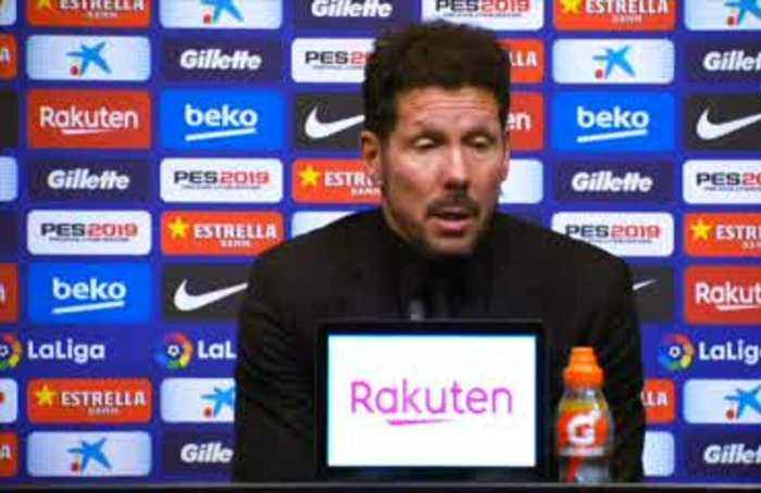 Simeone frustrated over Costa red card in loss to Barca