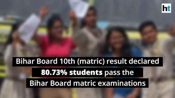 Bihar Board 10th matric result 2019 declared 80.73 cent students pass