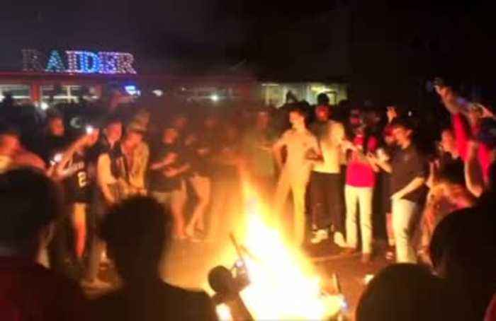 Police break up Texas Tech student celebrations after big NCAA basketball win