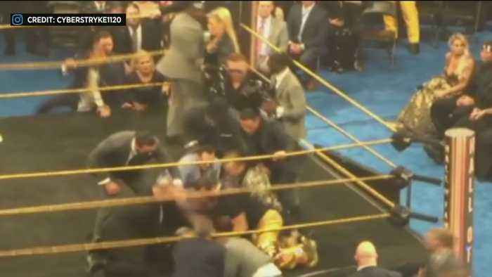 WWE Legend Bret Hart Tackled By Fan At Hall Of Fame Ceremony