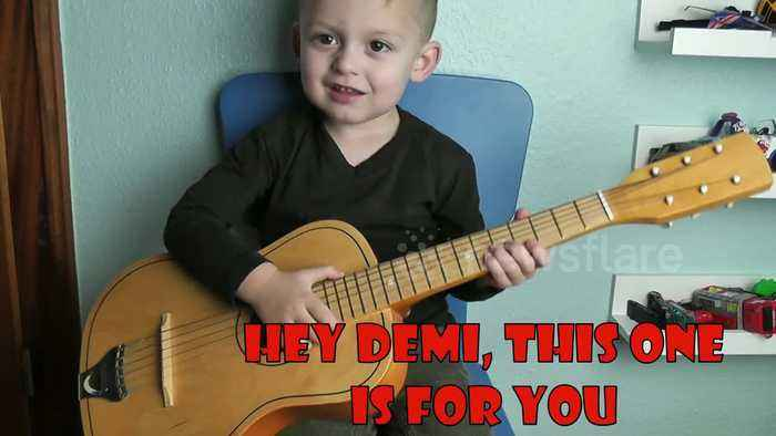 Three-year-old asks 'girlfriend' Demi Lovato on a date