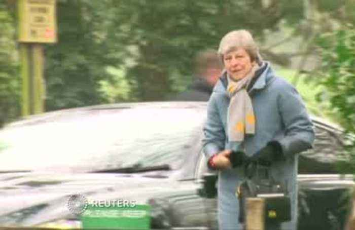 May courts European leaders ahead of Brexit day