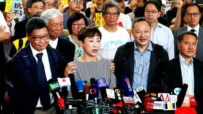Hong Kong pro-democracy leaders face seven years in prison