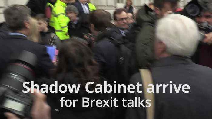 Labour arrive at Cabinet Office for Brexit talks