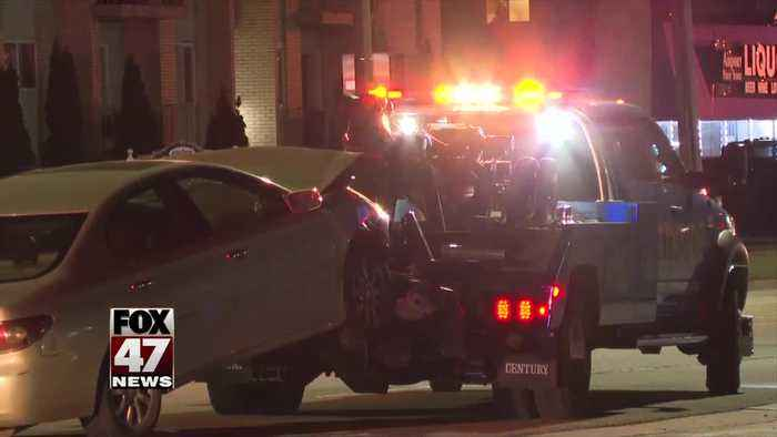 2 hospitalized in accident in Lansing