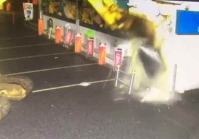 Stolen Digger Used to Rip ATM From Gas Station in Derry, Northern Ireland