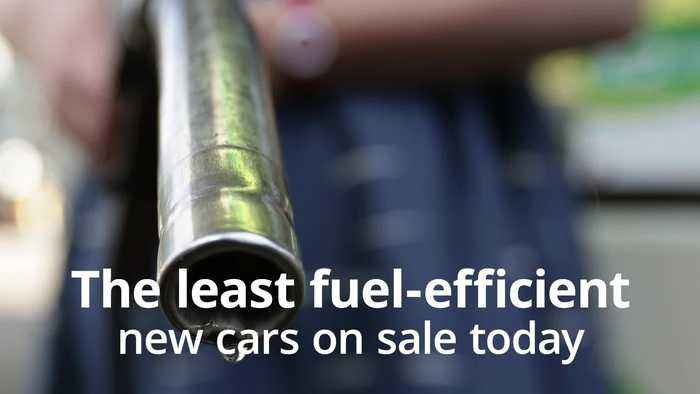 The least fuel-efficient cars on sale today