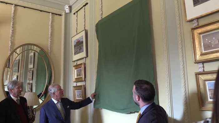 Charles 'worried' as he unveils portrait of himself at Hillsborough Castle