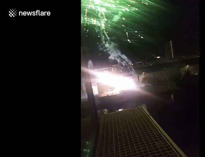 Ajax fans set off fireworks outside Juventus' hotel ahead of Champions League game