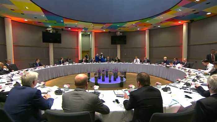 Theresa May meets EU leaders for Brexit summit
