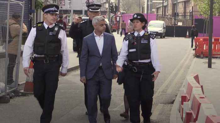 Khan claims cuts mean 'fighting crime with one hand tied behind our back'