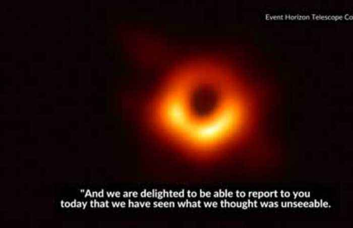 Scientists unveil first-ever photo of black hole