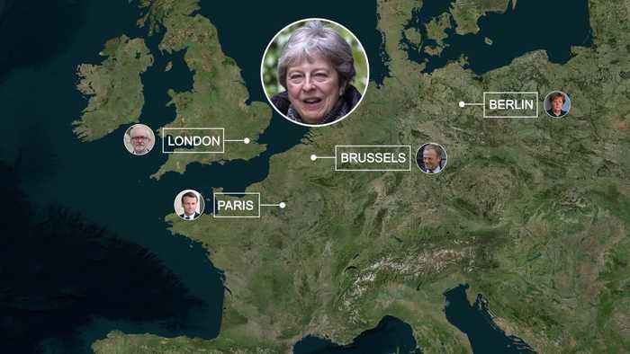 Brexit: Theresa May's hectic week across Europe
