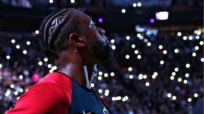 Dwyane Wade Plays Final Game For Miami Heat