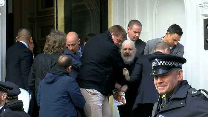 WikiLeaks founder Julian Assange arrested and dragged out of embassy