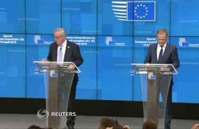 Tusk, Juncker say EU members agree to Brexit extension