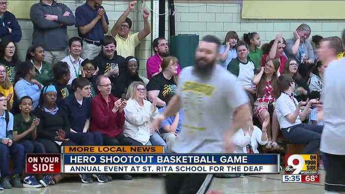 St. Rita School for the Deaf holds Hero Shootout Basketball Game