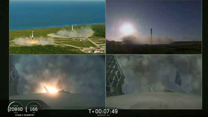 SpaceX's Falcon Heavy blasts off on first commercial flight