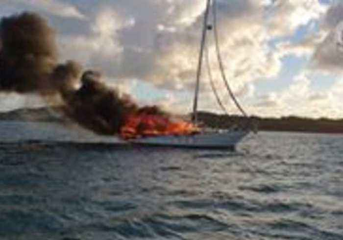 Couple and Their Dog Escape Burning Yacht in Queensland