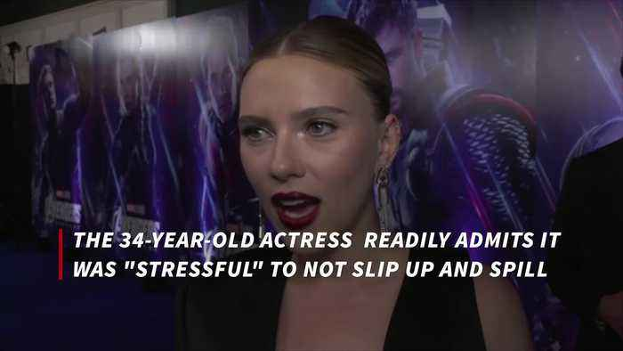 Scarlett Johansson says keeping Avengers secrets was 'traumatizing'