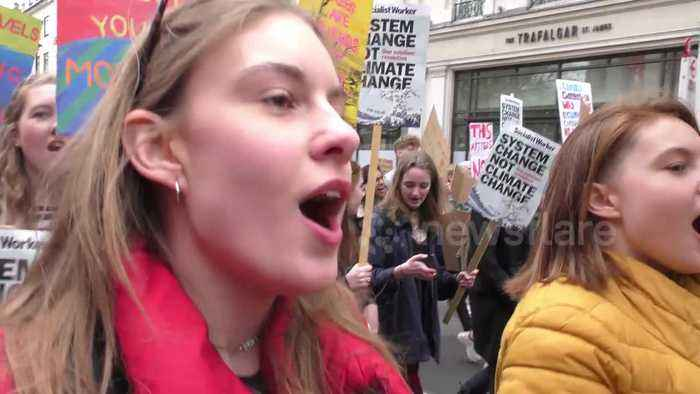 Youth climate change protests across UK