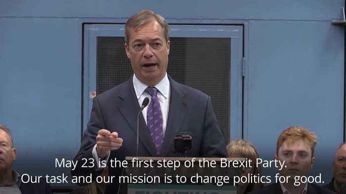 Farage launches Brexit Party: 'Our task and our mission is to change politics for good'