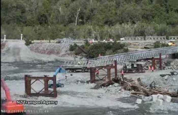 NZ rebuilds section of bridge destroyed by floodwaters