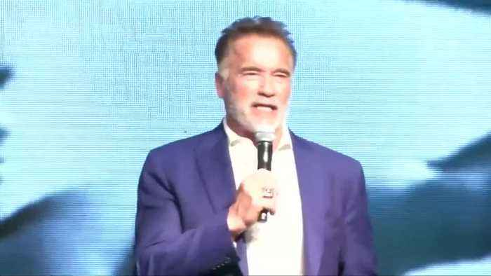 Schwarzenegger kicks off Arnold Sports Festival in Sao Paulo