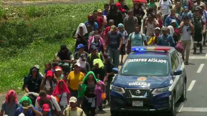 Central American migrant caravan reaches Mexico's southern border