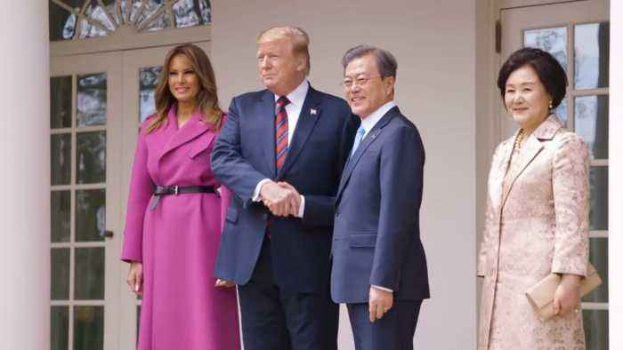 The President and First Lady Meet The President and First Lady of South Korea