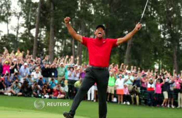 Tiger Woods wins Masters, his first major in 11 years