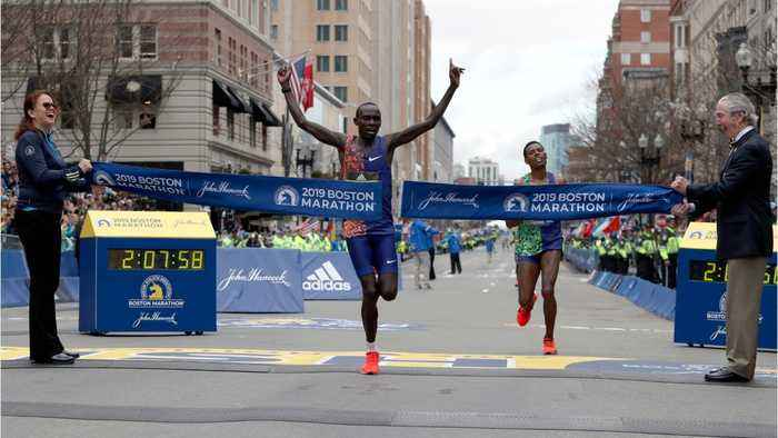Lawrence Cherono Wins Boston Marathon In Wild Finish