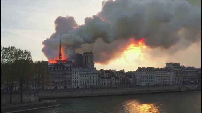 Paris' Notre-Dame Cathedral on fire