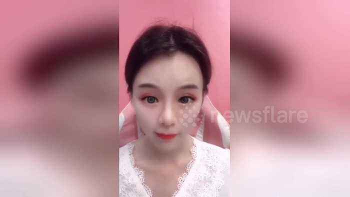 Chinese streamer uses scary makeup to appear perfect on camera