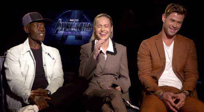 Chris Hemsworth, Brie Larson and Don Cheadle Chat Up 'Avengers: Endgame'