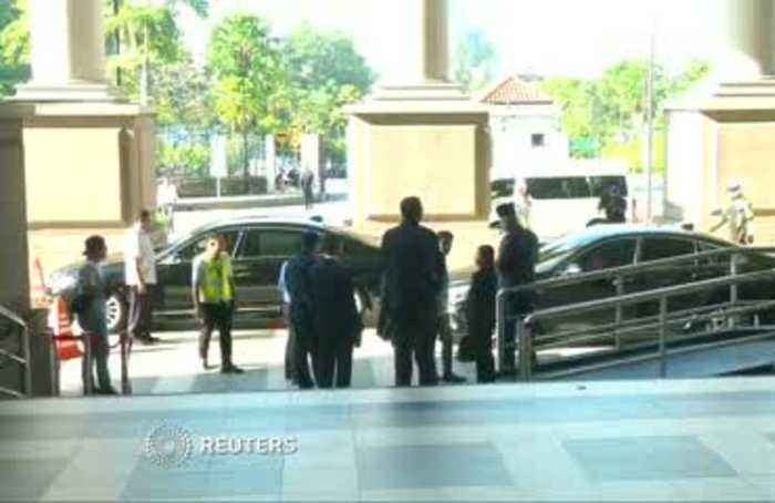 Former Malaysian PM Najib Razak arrives at court
