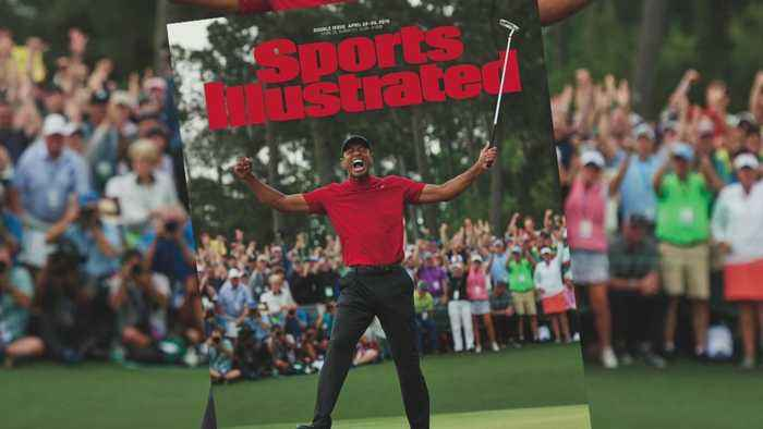 Photo-Only Sports Illustrated Cover Celebrates Tiger Woods' Victory