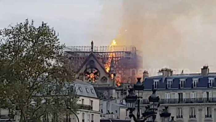 Massive fire tears through Notre Dame Cathedral in Paris
