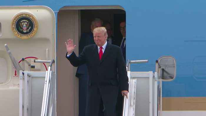 President Trump Arrives At MSP Airport