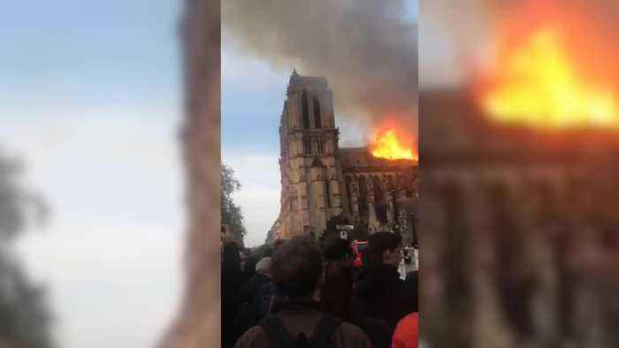 Fire rips through Notre Dame Cathedral in Paris