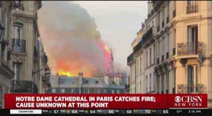 Notre Dame Cathedral Engulfed In Flames