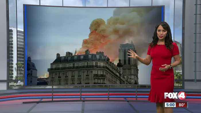 Fire at the Notre Dame Cathedral in Paris