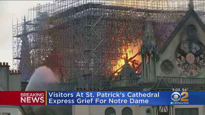 New Yorkers React To Burning Of Notre Dame Cathedral In France