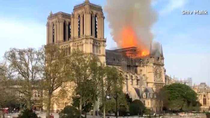 Iconic Notre Dame Cathedral In Paris Goes Up In Flames