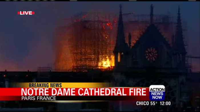 Arson ruled out in Notre Dame fire for now