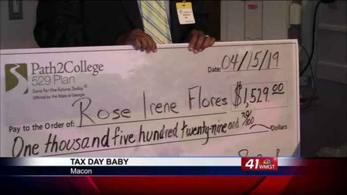 Tax Day Baby receives college scholarship in Macon