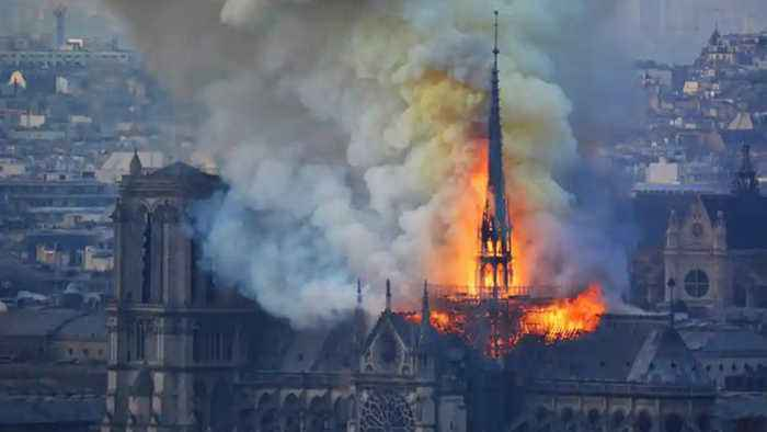 A fire gutted parts of Notre Dame Cathedral and altered the Paris skyline | Oneindia News